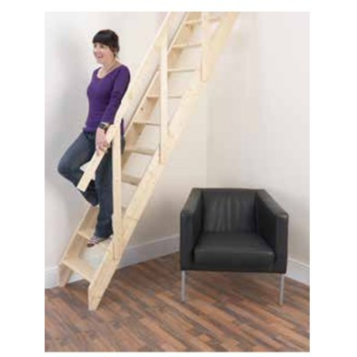 Madrid Wooden Space Saver Staircase Kit Loft Stair: Laddaway Madrid & Lisbon Space Saver Stair