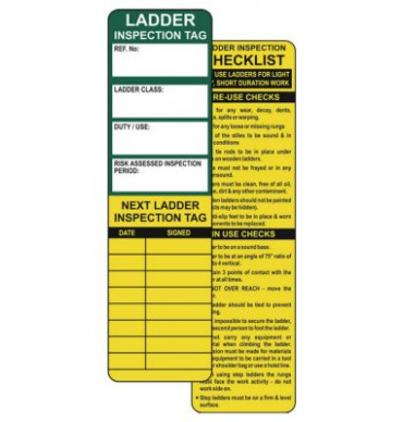 Ladder Safety Tag Inserts