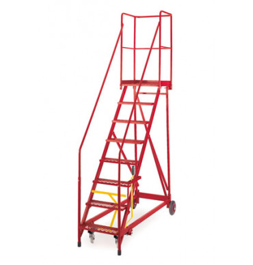 Fort Heavy Duty 'Vantage' Mobile Step - 590 x 540mm - Expanded Steel Treads