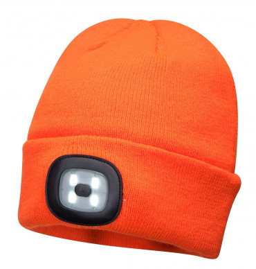 Portwest  Beanie LED Head Light USB Rechargeable Beenie