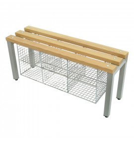 Cloakroom Bench with Shoe Baskets