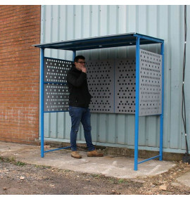 Economy Smoking Shelter with Steel Sides