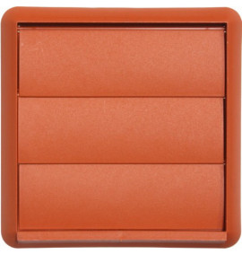 Terracotta Gravity Flap Wall Outlet - 100mm