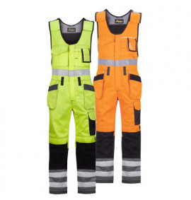 Snickers High-Vis One-piece Holster Pocket Trousers, Class 2