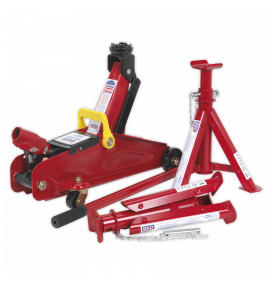 Trolley Jack 2tonne With Axle Stands