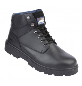 Himalayan Black Leather Safety Boot