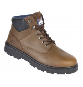 Himalayan Brown Nubuck Leather Safety Boot
