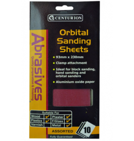 Assorted Orbital Sand Sheets (large) (Pack of 10)