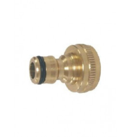 "1/2"" - 3/4"" BSP Brass Threaded Tap Adaptor"