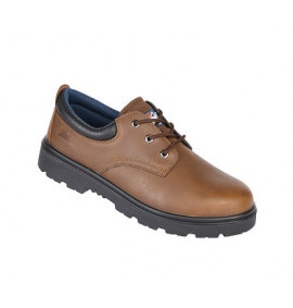 Himalayan Brown Leather Safety Shoe With Steel Midsole And Toecap
