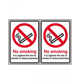 148 x 210 Double Sided No Smoking Sign