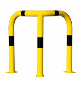 BLACK BULL Corner Protection Guard XL - Indoor Use - 1,200 x 900 x 900mm - Yellow/Black