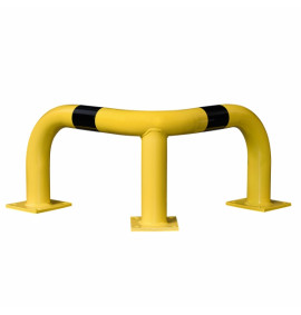 BLACK BULL Corner Protection Guard XL - Indoor Use - 600 x 900 x 900mm - Yellow/Black