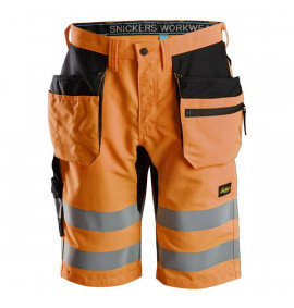 Snickers LiteWork, High-Vis Shorts+ Holster Pockets Class 1