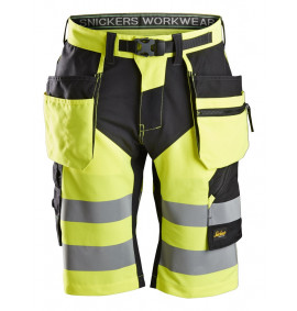 Snickers FlexiWork, High-Vis Shorts+ Holster Pockets Class 1