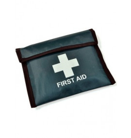 1 Person Travel First Aid Kit - Green Vinyl Pouch (HSE Compliant)