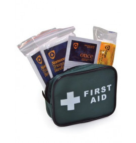 1 Person Travel First Aid Kit - Zipped Bag (HSE Compliant)