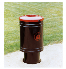 Base Mounted Procity Standard Steel Litter Bin