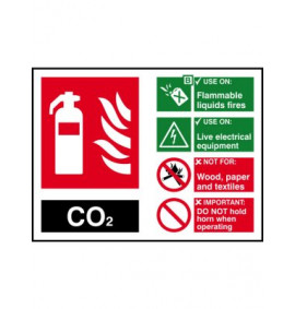 200 x 150 CO2 Fire Extinguisher Sign