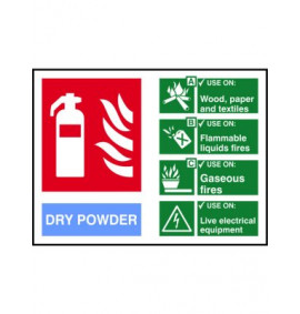 200 x 150 Dry Powder Fire Extinguisher Sign