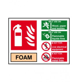 200 x 150 Foam Fire Extinguisher Sign