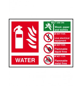 200 x 150 Water Fire Extinguisher Sign