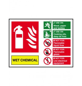 200 x 150 Wet Chemical Fire Extinguisher Sign