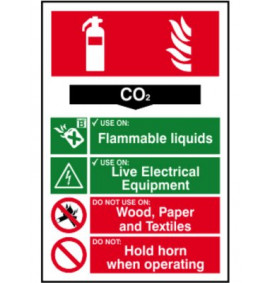 200 x 300 CO2 Fire Extinguisher Sign