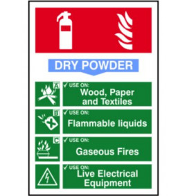200 x 300 Dry Powder Fire Extinguisher Sign