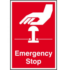 200 x 300 Emergency Stop Sign