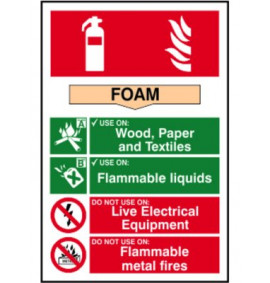 200 x 300 Foam Fire Extinguisher Sign