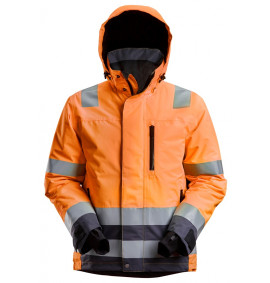 Snickers AllroundWork, High-Vis Waterproof 37.5® Insulated Jacket Class 3