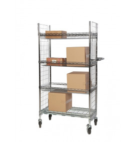 Chrome Wire Order Picking Trolleys