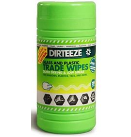 Dirteeze 80 Smooth Glass & Plastic Cloths (Green)