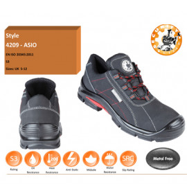 Himalayan Black Metal Free Safety Shoe