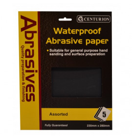 Assorted Waterproof Sandpaper (Pack of 5)
