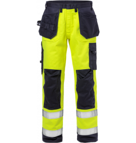 Fristads Flame High Vis Craftman Trousers CL2 2584 FLAM