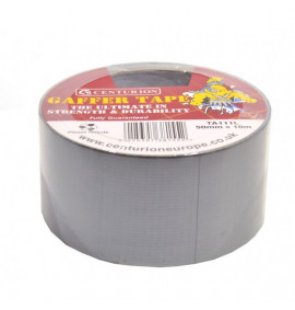 50mm x 10m Industrial Cloth Tape Silver/Grey