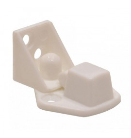 32mm White Nylon Peg Lock Catch (Pack of 2)