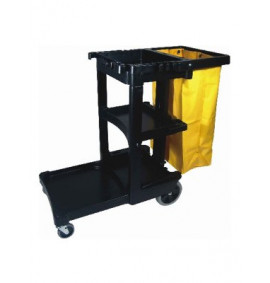 6173 Janitor Cart With Vinyl Bag