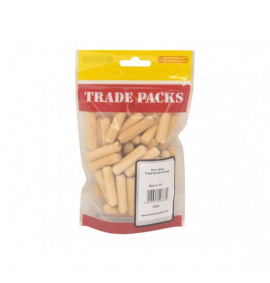Fluted Wooden Dowels - M10 x 40mm (50 PK)