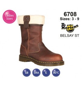 Dr Martens Brown Belsay ST Teak Leather Womens Safety Boot