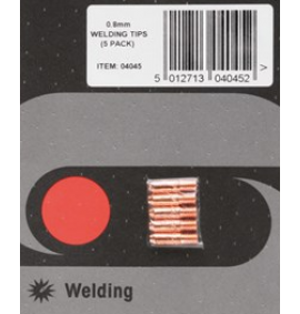 5x 0.8mm SIP15 MIG Welding Tips