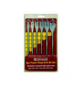 6 Piece Fast Cutting Flat Wood Bits Set