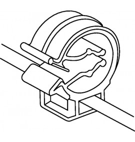 2-Piece Fixing Ties with Pipe Clip (T50ROC1B)