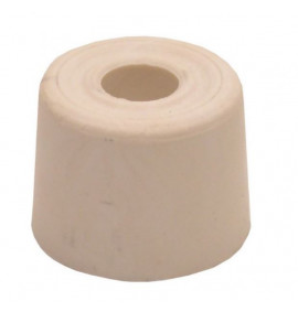 28mm White Plastic Door Stops (Pack of 2)