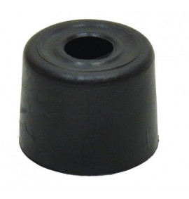 28mm Black Plastic Door Stop (Pack of 2)