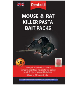 Rentokil - Mouse & Rat Killer Pasta Bait Packs - 10 Sachet