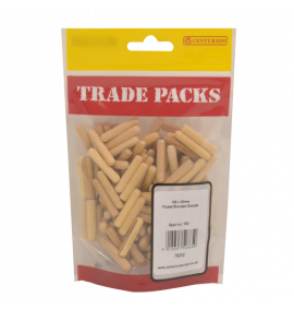 Fluted Wooden Dowels - M6 x 30mm (150 PK)