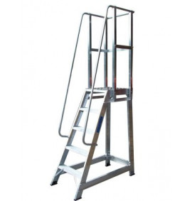 Aluminium Trade Stepladders with Handrails